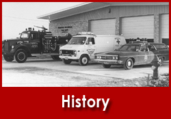 Fire Department History - Old Timey Photo of Fire Department Vehicles