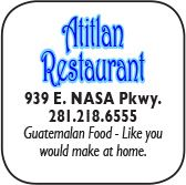 Atitlan Restaurant, 939 East NASA Parkway, 281-218-6555
