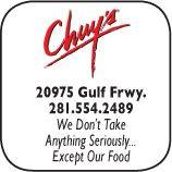 Chuys Mexican Food, 20975 Gulf Frewway, 281-554-2489