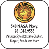 King Chicken, 548 W NASA Parkway, 281-316-9555